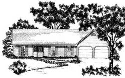 Ranch Style Home Design Plan: 18-169