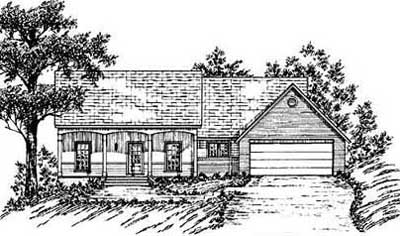 Country Style House Plans Plan: 18-173