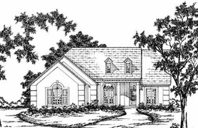 Traditional Style Home Design Plan: 18-174