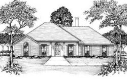 Southern Style Home Design Plan: 18-176
