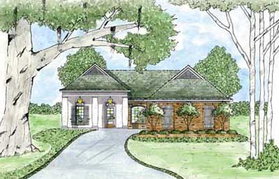 Southern Style Floor Plans Plan: 18-185