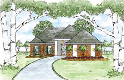Traditional Style Home Design Plan: 18-186