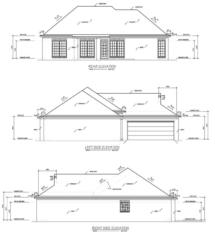 Rear Elevation Plan: 18-187