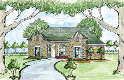 Traditional Style Home Design Plan: 18-188