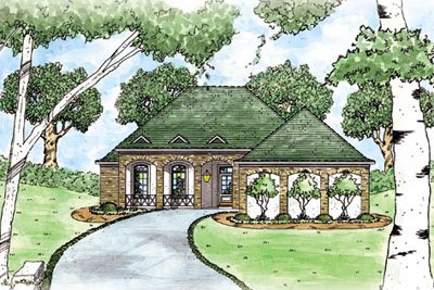 Traditional Style Home Design Plan: 18-190