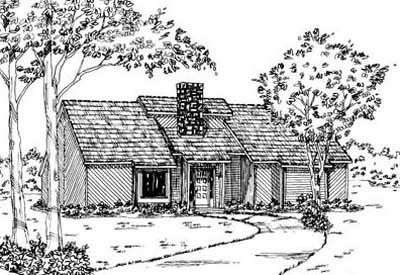 Contemporary Style Home Design Plan: 18-195