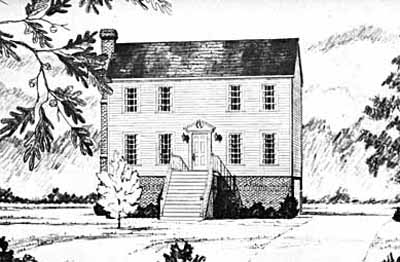 Early-american Style Home Design Plan: 18-203