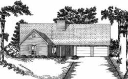 Ranch Style Home Design Plan: 18-204