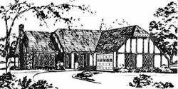 English-Country Style House Plans Plan: 18-207