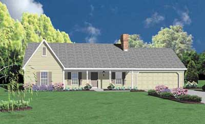 Ranch Style Home Design Plan: 18-208