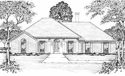 Southern Style Home Design Plan: 18-211