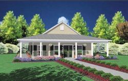 Southern Style Home Design 18-213