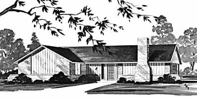 Ranch Style Home Design Plan: 18-218