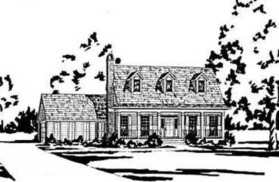 Country Style Home Design Plan: 18-225