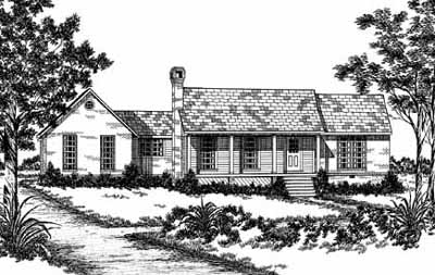 Country Style Home Design Plan: 18-229