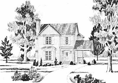 Country Style Home Design Plan: 18-233