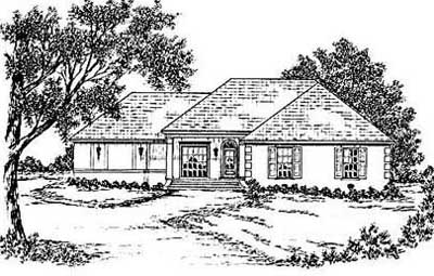 Country Style Home Design Plan: 18-235