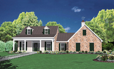 Country Style Home Design Plan: 18-238