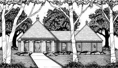 English-country Style House Plans Plan: 18-239