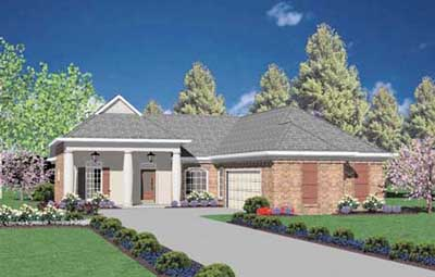 Southern Style Floor Plans Plan: 18-241