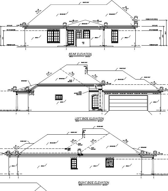 Rear Elevation Plan: 18-241