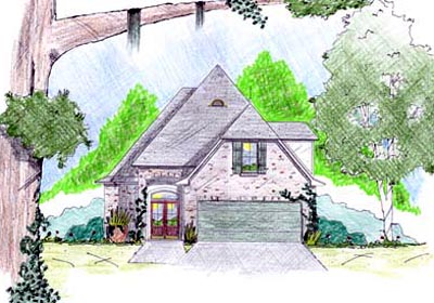 English-country Style House Plans Plan: 18-242