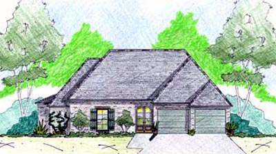 English-country Style Home Design Plan: 18-243