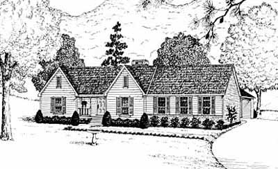 Ranch Style Home Design Plan: 18-248