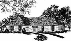 Ranch Style Home Design Plan: 18-250