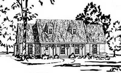 Country Style Floor Plans Plan: 18-251