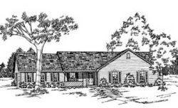 Ranch Style Home Design Plan: 18-254