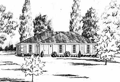 Southern Style Home Design Plan: 18-255