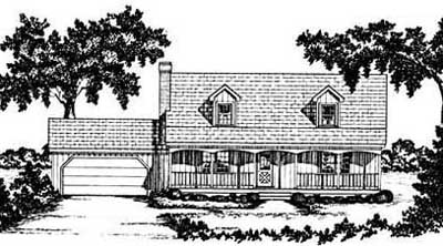 Country Style Floor Plans Plan: 18-258