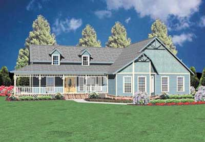 Country Style Home Design Plan: 18-259