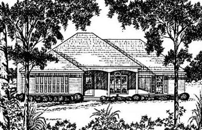 Southern Style Home Design Plan: 18-260
