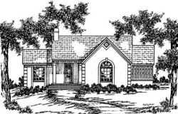 Southern Style Home Design Plan: 18-263