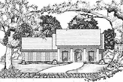 Southern Style House Plans Plan: 18-264