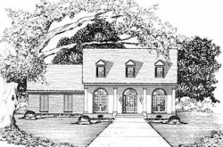 Southern Style Home Design Plan: 18-265
