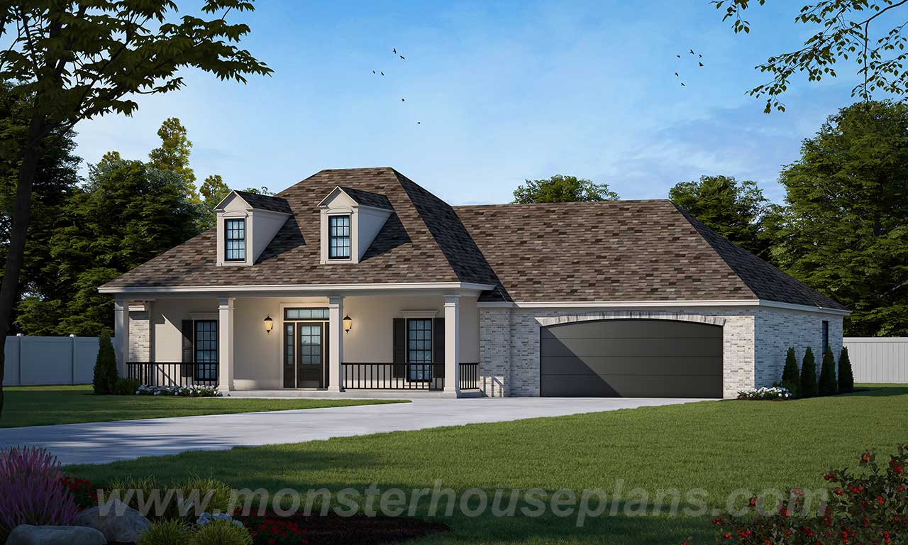 Country Style Floor Plans Plan: 18-267