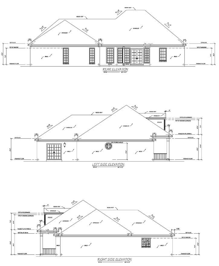 Rear Elevation Plan: 18-267