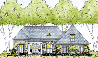 English-country Style Home Design Plan: 18-270