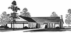 Ranch Style Home Design Plan: 18-271