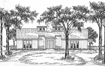 Contemporary Style Floor Plans Plan: 18-272