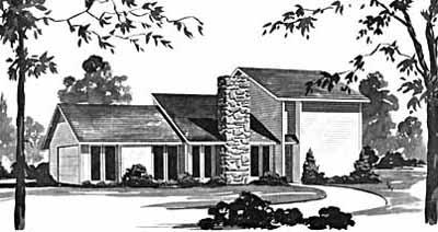 Contemporary Style Home Design Plan: 18-273