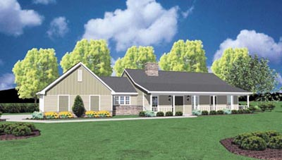 Country Style Floor Plans Plan: 18-278