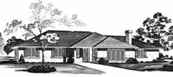 Ranch Style Home Design Plan: 18-279
