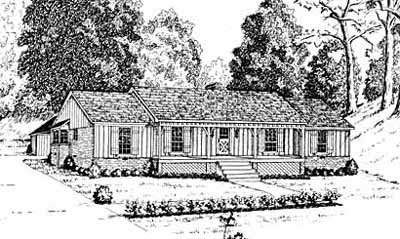 Country Style Home Design Plan: 18-282