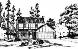 Tudor Style Home Design Plan: 18-283