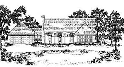 Country Style Floor Plans Plan: 18-286