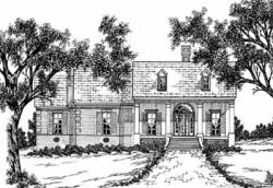 Southern Style Home Design Plan: 18-289